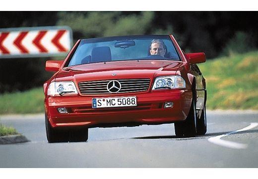 MERCEDES-BENZ Klasa SL SL R129 I kabriolet czerwony jasny przedni