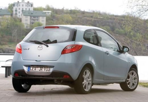 MAZDA 2 II hatchback niebieski jasny tylny prawy
