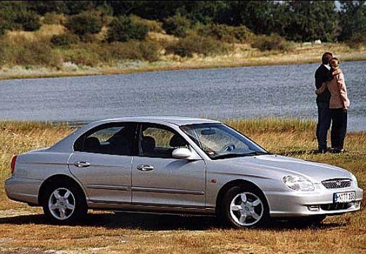 HYUNDAI Sonata IV sedan silver grey przedni prawy