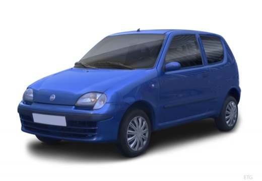 FIAT 600 hatchback czarny przedni lewy