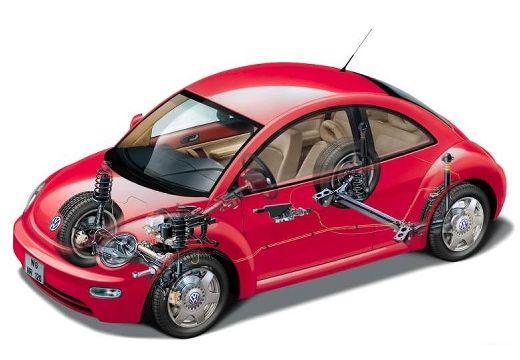 VOLKSWAGEN New Beetle I coupe czerwony jasny prześwietlenie
