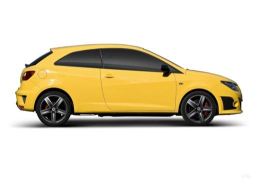 SEAT Ibiza V hatchback żółty boczny prawy