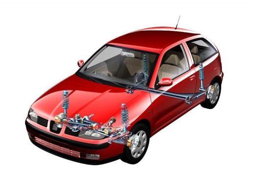 SEAT Ibiza III hatchback czerwony jasny prześwietlenie