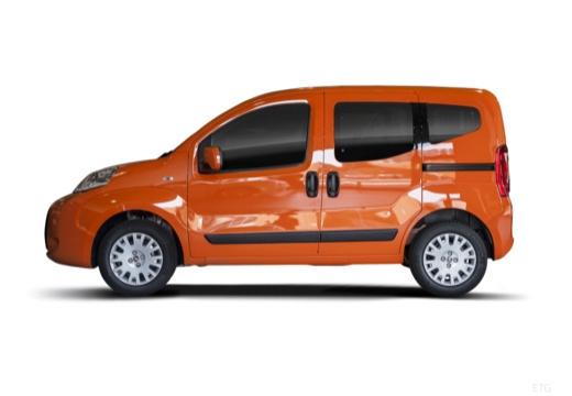 FIAT Fiorino Qubo kombi pomarańczowy boczny lewy
