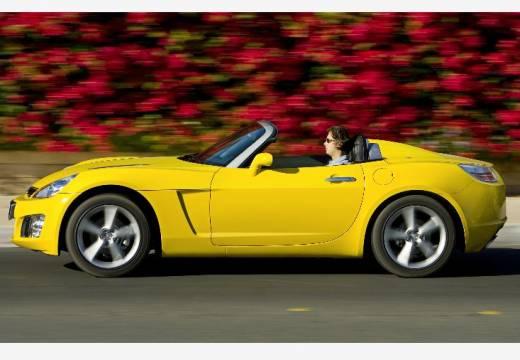 OPEL GT roadster żółty boczny lewy