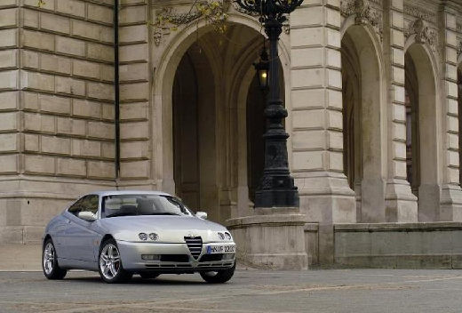 ALFA ROMEO GTV II coupe silver grey przedni prawy