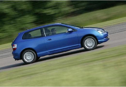 HONDA Civic V hatchback niebieski jasny boczny prawy
