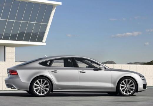AUDI A7 Sportback I hatchback silver grey boczny prawy