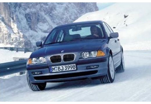 BMW Seria 3 sedan niebieski jasny przedni lewy