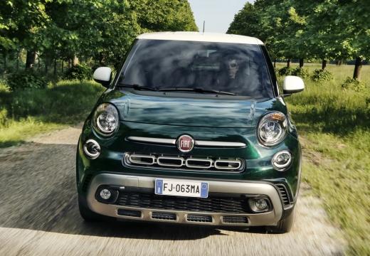 FIAT 500 hatchback zielony przedni