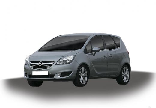 OPEL Meriva hatchback silver grey
