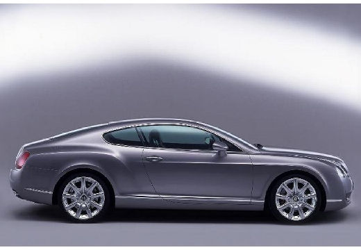 BENTLEY Continental coupe silver grey boczny prawy
