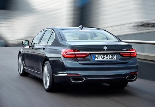 BMW Seria 7 sedan szary ciemny tylny lewy