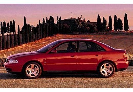 AUDI A4 B5 sedan bordeaux (czerwony ciemny) boczny lewy
