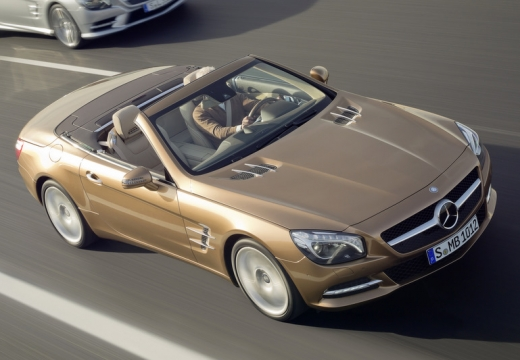 MERCEDES-BENZ Klasa SL roadster brązowy przedni prawy