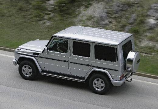 MERCEDES-BENZ Klasa G 463 III soft top silver grey tylny lewy