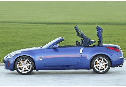 NISSAN 350 Z roadster niebieski jasny boczny lewy