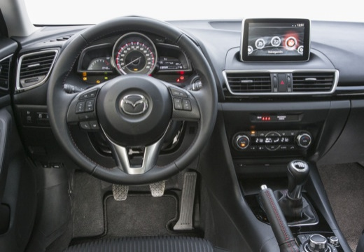 MAZDA 3 V hatchback czerwony jasny tablica rozdzielcza