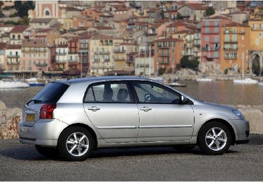 Toyota Corolla VII hatchback silver grey tylny prawy