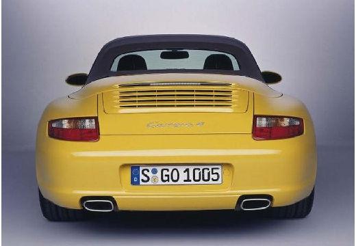 PORSCHE 911 Cabrio 997 kabriolet żółty tylny