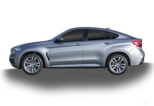 BMW X6 hatchback szary ciemny boczny lewy