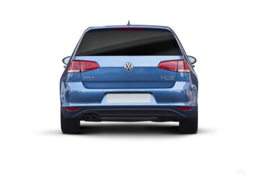 VOLKSWAGEN Golf VII I hatchback niebieski jasny tylny