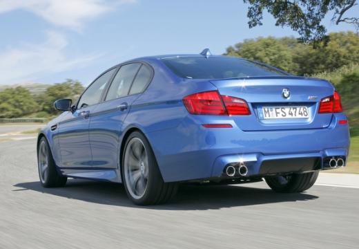 BMW Seria 5 F10 I sedan niebieski jasny tylny lewy