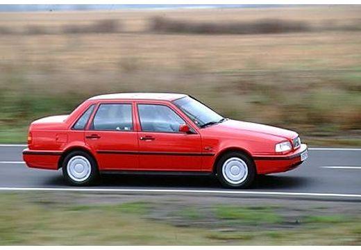 VOLVO 460 sedan czerwony jasny przedni prawy
