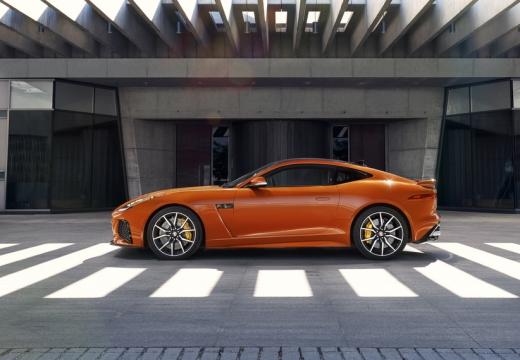 JAGUAR F-Type I coupe pomarańczowy boczny lewy