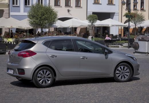 KIA Ceed IV hatchback silver grey boczny prawy