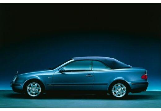 MERCEDES-BENZ Klasa CLK kabriolet niebieski jasny boczny lewy