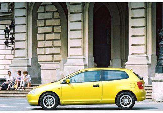 HONDA Civic IV hatchback żółty boczny lewy