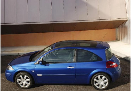 RENAULT Megane II II hatchback niebieski jasny tylny lewy