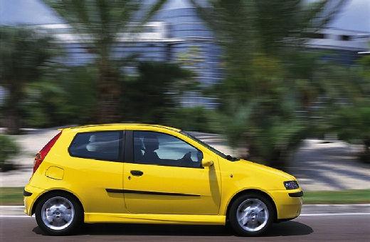 FIAT Punto II I hatchback żółty boczny prawy