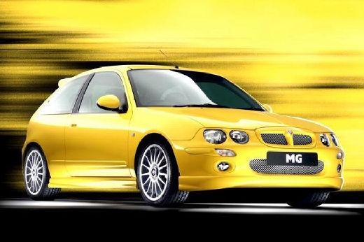 MG ZR hatchback żółty przedni prawy