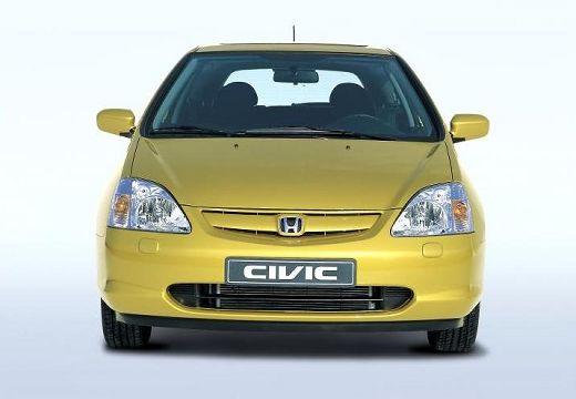 HONDA Civic IV hatchback żółty przedni