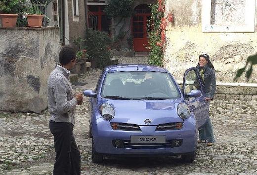 NISSAN Micra V hatchback niebieski jasny przedni
