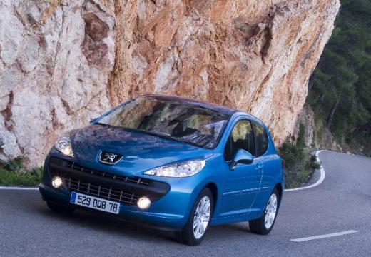 PEUGEOT 207 I hatchback niebieski jasny przedni lewy