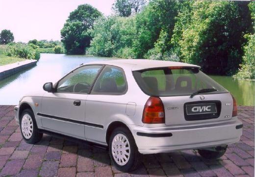 HONDA Civic III hatchback silver grey tylny lewy