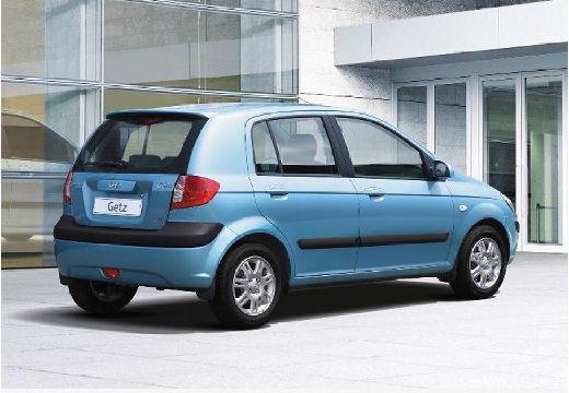 HYUNDAI Getz II hatchback niebieski jasny tylny prawy