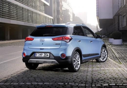 HYUNDAI i20 hatchback niebieski jasny tylny prawy