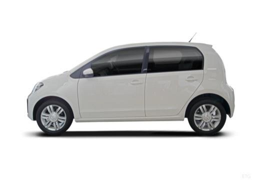 VOLKSWAGEN up e- FL hatchback biały boczny lewy