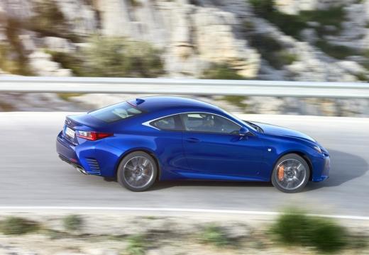 LEXUS RC I coupe niebieski jasny boczny prawy