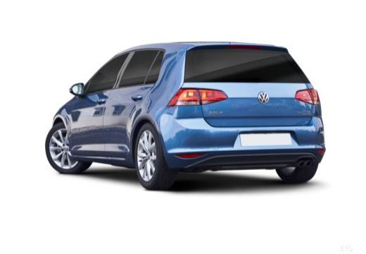 VOLKSWAGEN Golf VII I hatchback niebieski jasny tylny lewy