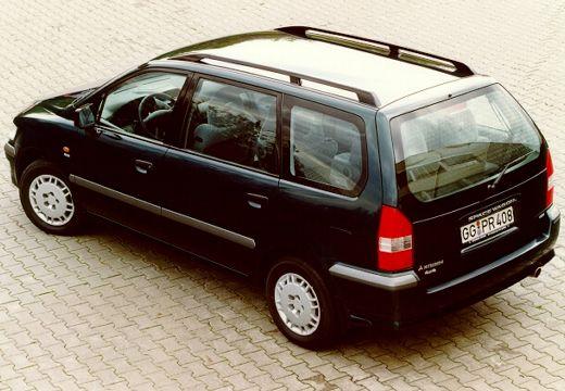 MITSUBISHI Space Wagon III van czarny tylny lewy