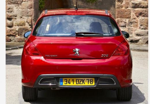 PEUGEOT 308 I hatchback czerwony jasny tylny