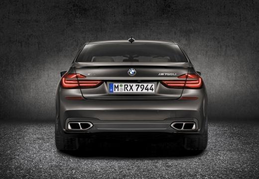 BMW Seria 7 G11 G12 I sedan szary ciemny tylny