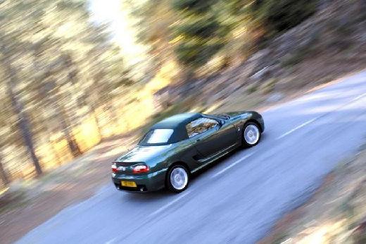MG TF I roadster zielony tylny prawy