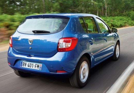 DACIA Sandero II hatchback niebieski jasny tylny prawy