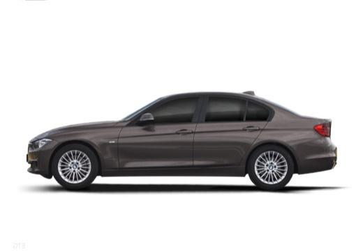 BMW Seria 3 F30 sedan szary ciemny boczny lewy